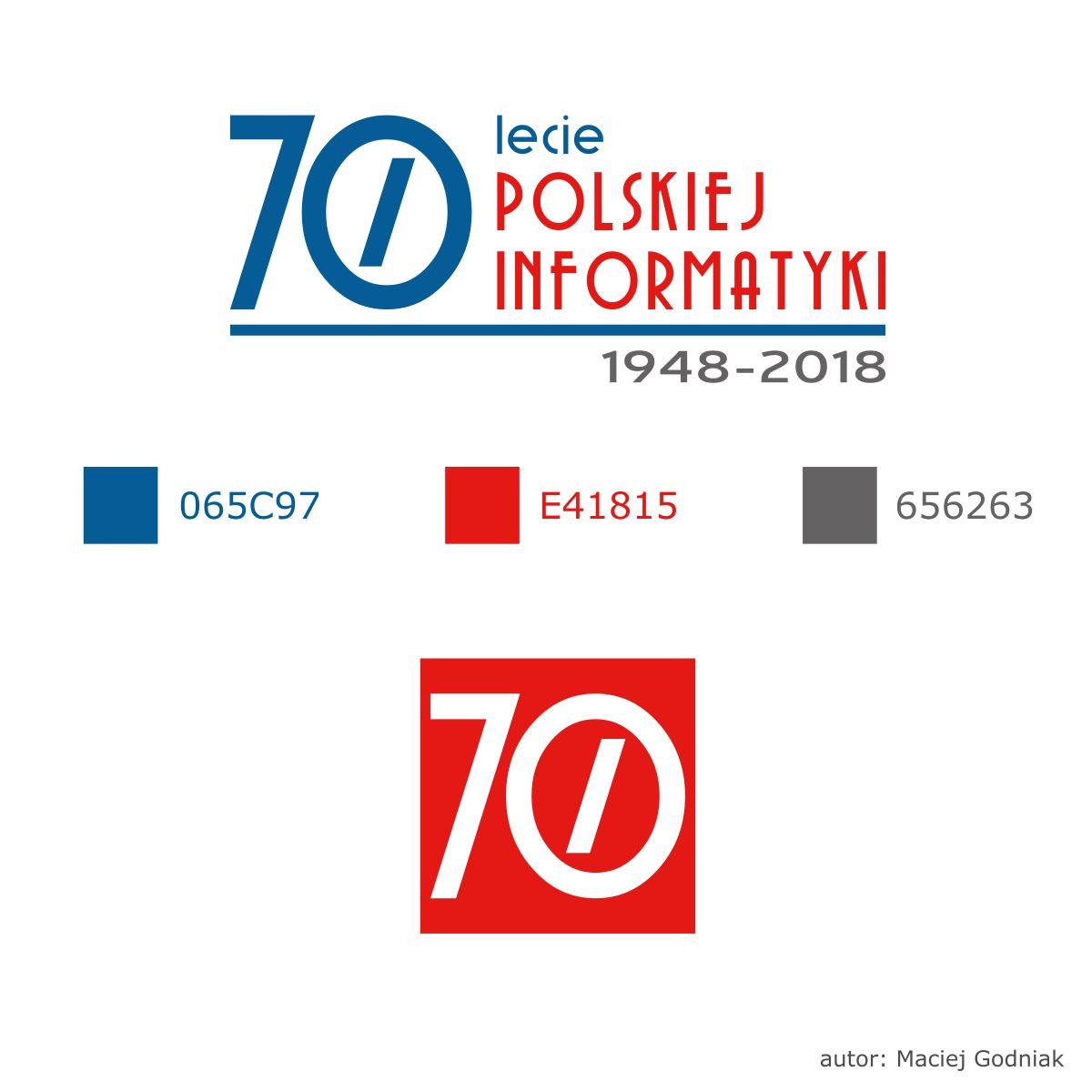 70-lecie informatyki polskiej logo